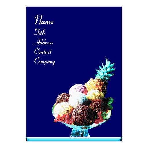 ICE CREAM  - DESERT SHOP,blue red Business Card