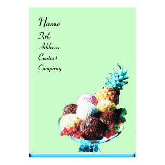 ICE CREAM  - DESERT SHOP,blue red green black Large Business Card
