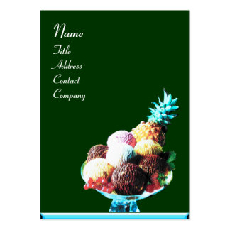 ICE CREAM  - DESERT SHOP,blue red green Large Business Card