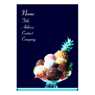ICE CREAM  - DESERT SHOP,blue red Large Business Card