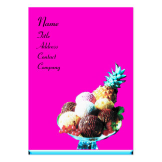 ICE CREAM  - DESERT SHOP,blue violet black Pack Of Chubby Business Cards