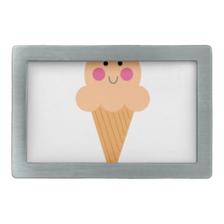 Ice cream design on white belt buckle