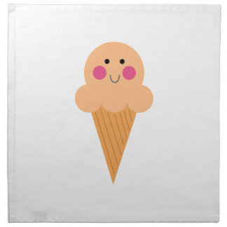 Ice cream design on white napkin