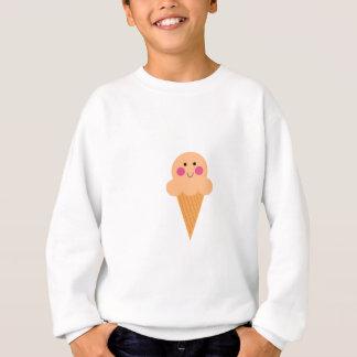 Ice cream design on white sweatshirt
