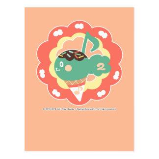Ice-cream diacritic postcard