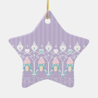 Ice Cream Dream - Lavender Ceramic Star Ornament