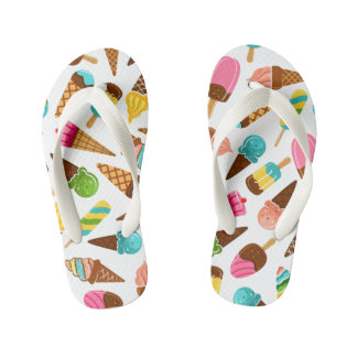 Ice Cream Flip Flops, Kids and Toddlers Kid's Flip Flops