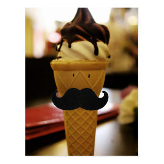 Ice Cream For A Moustache Postcard