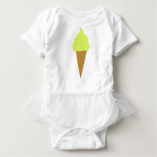 ice cream fun style yellow baby bodysuit