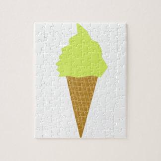 ice cream fun style yellow jigsaw puzzle