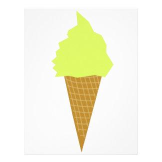 ice cream fun style yellow letterhead