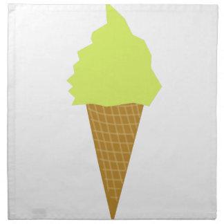 ice cream fun style yellow napkin