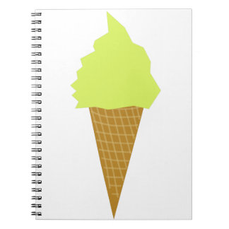ice cream fun style yellow notebook