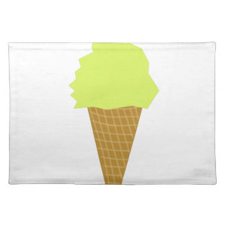 ice cream fun style yellow placemat