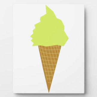 ice cream fun style yellow plaque