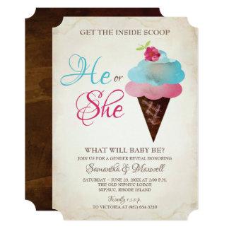 Ice Cream Gender Reveal Invitation