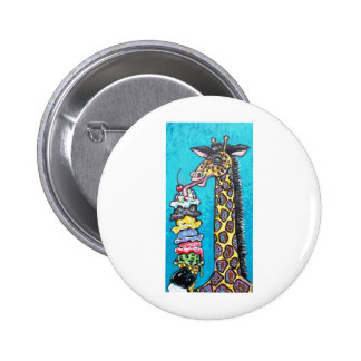 ice cream giraffe 2 inch round button