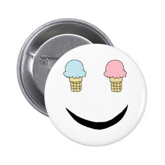 Ice Cream Happy Face Pins