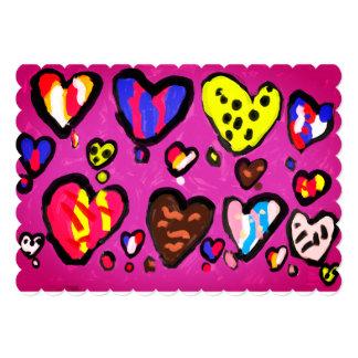 ice cream heart card