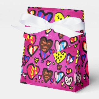 ice cream heart favor box