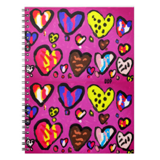 ice cream heart notebook