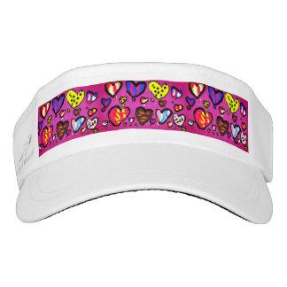 ice cream heart visor