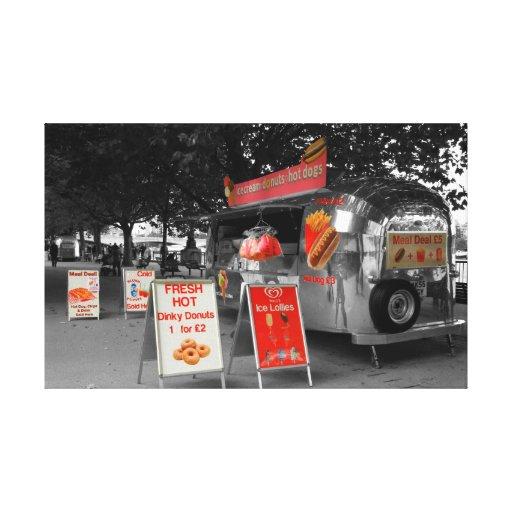 Ice Cream Hot Dogs Canvas Prints