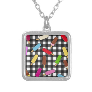 Ice cream kingdom silver plated necklace