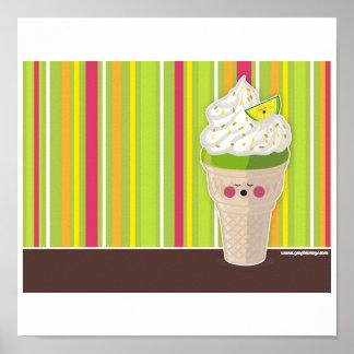 ice cream lemon poster