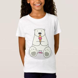 Ice Cream Lover Polar Bear Fitted Babydoll T-Shirt
