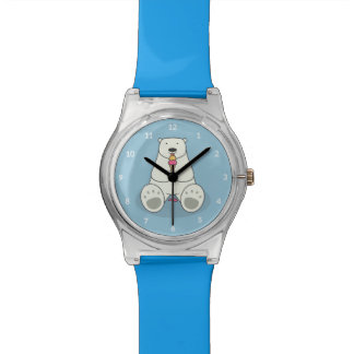 Ice Cream Lover Polar Bear Kids Watch