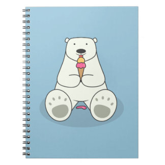 Ice Cream Lover Polar Bear Notebook