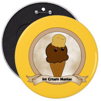 Ice Cream Maniac Buttons