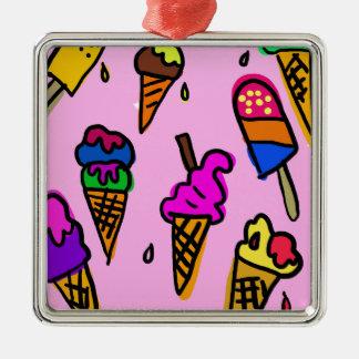 Ice Cream Metal Ornament