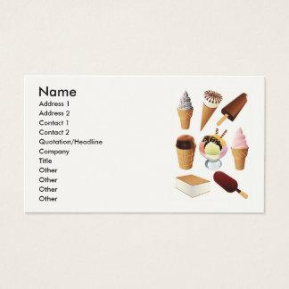 Ice Cream, Name, Address 1, Address 2, Contact ... Business Card