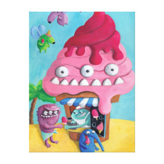 Ice Cream on the Beach Canvas Print