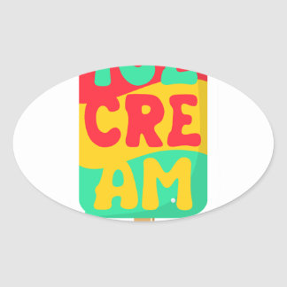 Ice-cream Oval Sticker
