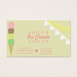 Ice Cream Parlor Business Card
