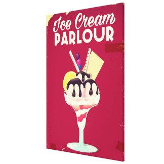 Ice Cream Parlour Vintage old Sign Canvas Print