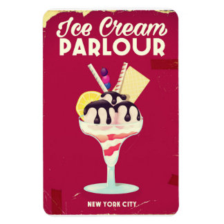 Ice Cream Parlour Vintage old Sign Magnet