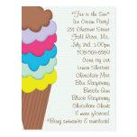 Ice Cream Party Invitation Postcards