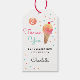 Ice Cream Party Kids Birthday Party Tags