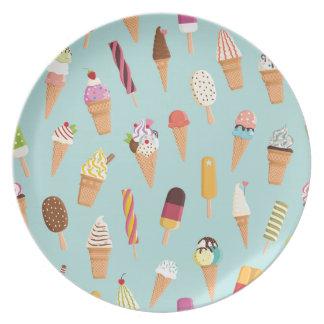 Ice cream pastels plate