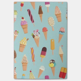 Ice cream pastels post-it notes