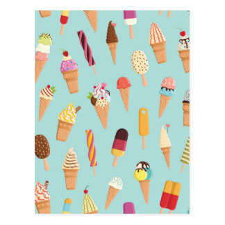 Ice cream pastels postcard