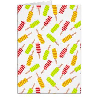 Ice cream pattern card