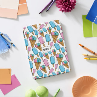 Ice Cream Pattern custom monogram device covers iPad Air Cover