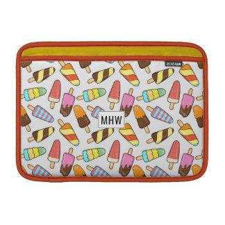 Ice Cream Pattern custom monogram Macbook sleeves