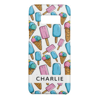 Ice Cream Pattern custom name phone cases