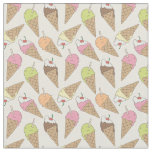 Ice cream pattern fabric